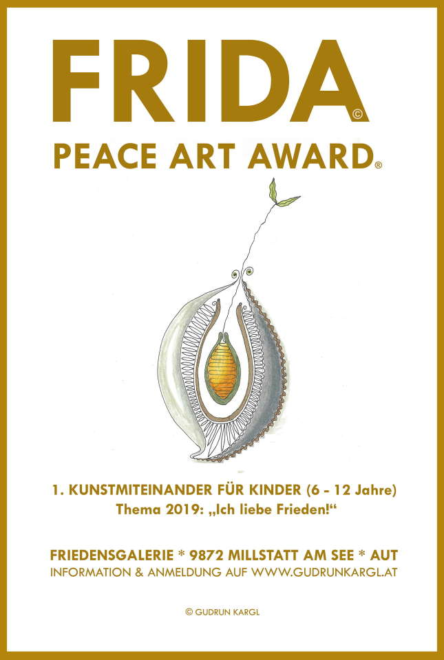 FRIDA - PEACE ART AWARD 2019 Plakat k